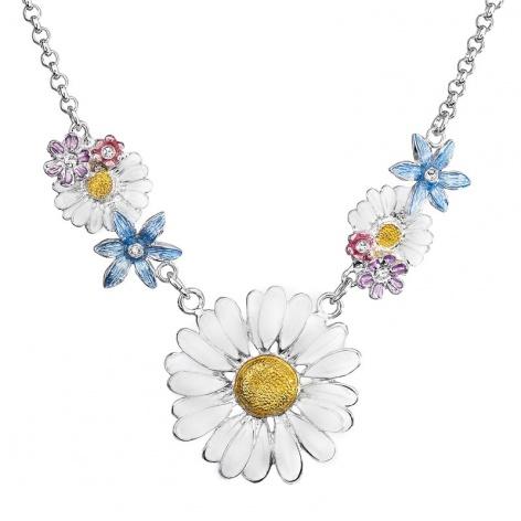 Náhrdelník Kopretina s květy