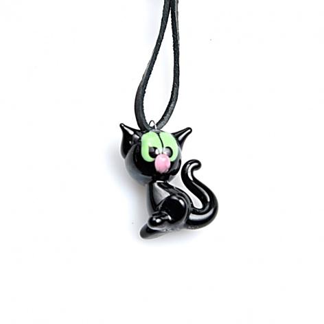 Náhrdelník Černá kočička