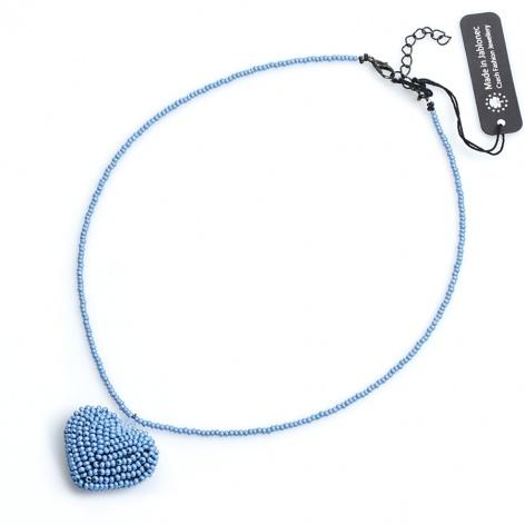 Náhrdelník Měkké srdíčko modré