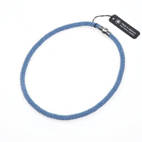 Náhrdelník Jednoduchý obtáčený sytá světlá modrá