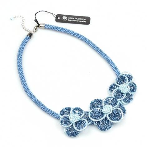 Náhrdelník Modré květy